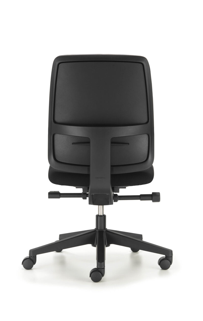 Back view of Comforto 29 task chair, model 2975 with upholstered back